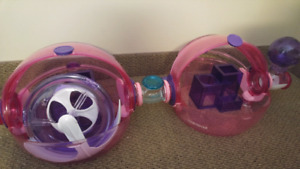 2 Pink Habitrail Hamster Cage