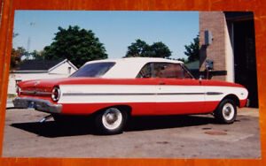 8X12 PHOTO 1963 FORD FALCON CONVERTIBLE A DEUX-MONTANGES QC 1999