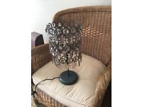 Beautiful Faux glass table lamp from the 1970's