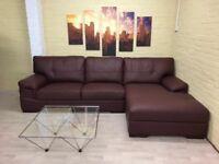 Comfy Cosy Leather Corner Sofa