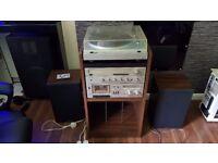 Sharp Vintage 1980s Hi Fi separates,Sharp RP-10 Turntable,SA-10 Tuner Amp,RT-10 Cassette Deck