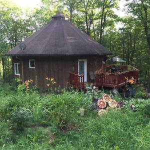 maison octogonale /chambres