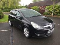 Vauxhall Corsa 1.2 Sxi 2009 black 5dr AC 80,000 miles FSH finance good bad poor credit *vxr turbo*