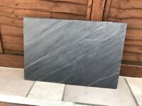 2 x riven slate paving slabs 900x600mm. Unused, surplus to requirements