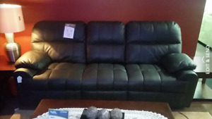 Grey Bonded Leather Sofa