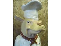 Cast Iron Butchers Pig, very good condition, original paintwork, circa 1950`s.