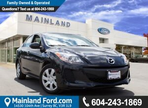 2013 Mazda Mazda3 GX LOCAL, NO ACCIDENTS, LOW KM'S