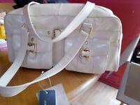 Ladies cream handbag