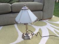 Glass and bronzed touch lamp. Beautiful design.