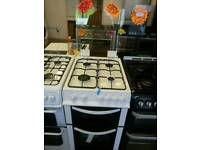 LOGIK 50CM GAS DOUBLE OVEN COOKER IN WHITE ☆BRAND NEW☆