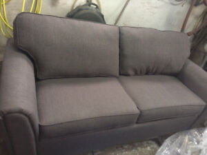 Grey fabric couch new
