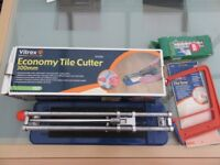 Tile cutter and extras tile saw spacers