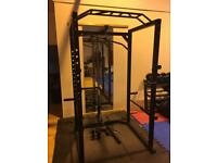 Power squat cage gym weights fitness