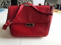 LK Bennett red leather handbag