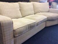 Grey corner sofa bed excellent condition free delivey