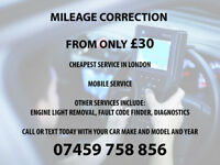 MILEAGE CORRECTION FIX ODOMETER ADJUST CHEAPEST FROM £30