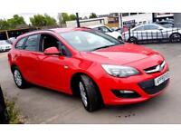 VAUXHALL ASTRA 1.6 EXCLUSIV 5d AUTO 115 BHP AUTOMATIC ESTATE CAR (red) 2013