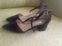 Croc effect block heels by Topshop size 5