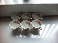 Vintage Royal Albert Bone China Lady Carlyle Cups 6pc