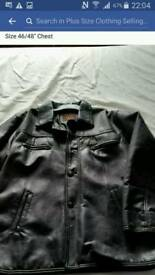 "Italian Leather Jacket. Size 46/48"" Chest"