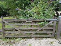 2 x Wooden gates and fixings