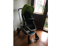 Mothercare Xpedior Travel System (Green); Pram/Pushchair/Car Seat/Chassis