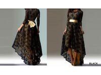 NEW Black Lace Dress Slim Women