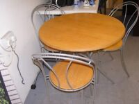 Bistro Set. Round Dining Table and 3 Chairs