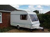 Compact touring caravan in great condition. Perfect for small cars. New carpet and curtains. £1,700.