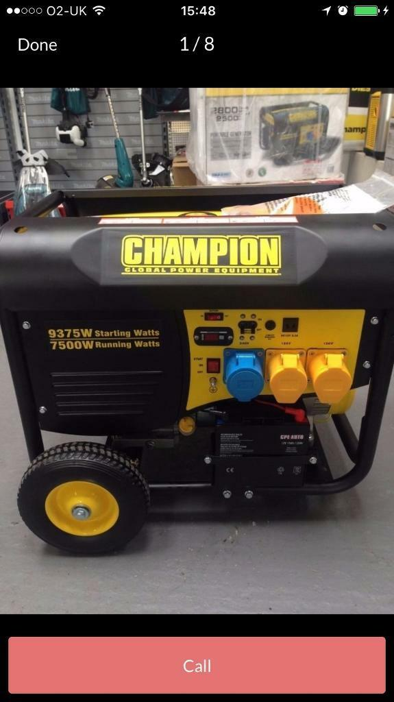 Bought new only used once Champion portable generator