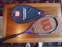 Wilson Titanium Power squash racquet racket with case