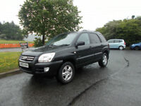 KIA SPORTAGE XS V6 AUTOMATIC 4X4 STUNNING BLACK 2006 ONLY 69K MILES BARGAIN £2350 *LOOK* PX/DELIVERY