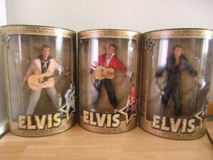 ELVIS Commemorative Collection 3-Set Series Dolls with Stands
