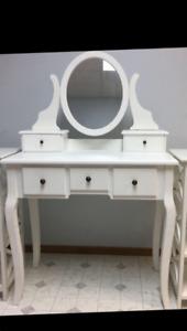 Beautiful White Vanity with Mirror