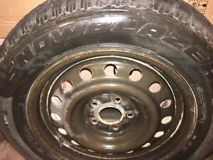 Winter tires with rims set of 4 size 225/60/R16  M+S.$250.00