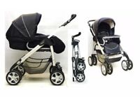 CAN POST / DELIVER LOCALLY Silver Cross Linear Freeway Pushchair World Forward or Parent Rear Facing