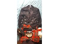 Scottish Handmade kilt in Royal Stuart Tartan complete with accessories - Immaculate condition