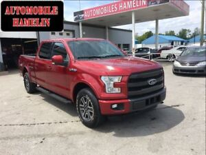 2015 Ford F-150 lariat gps toit pano cuir mags marche-pied