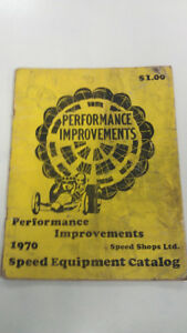 1970 Vintage Performance Improvements Catalog