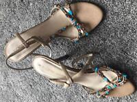 Ladies Designer FIORE High Heel Sandals 6