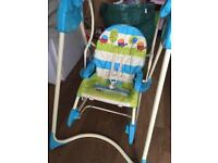 3-in-1 baby swing and rocker chair