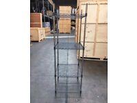 Metal Racking/ Shelving. Dimensions:- Width:60cm x Depth:60cm x Height:190cm