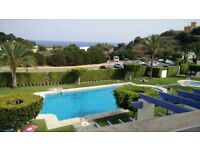 Holiday apartment in Mojacar Almeria Andalusia Spain : large terrace overlooking the sea.