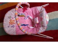 Fisher Price Baby Rocker Vibrator Bouncer Pink Pretty