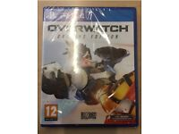 Playstation 4 overwatch game unopened
