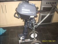 Yamaha 2.5hp 4 Stroke Outboard Motor For Dinghy Boat 5 Hours Use Virtually New Condition RRP £629