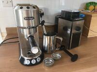 DeLonghi Coffee Maker & Grinder Set