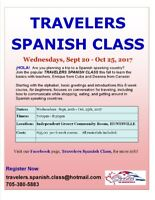 TRAVELERS SPANISH CLASS 6 weeks HUNTSVILLE