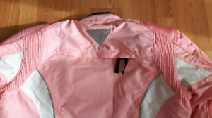 Ladies pink Cortech motorcycle jacket