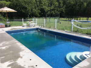 Stunning Newer Home, Inground Pool, Oversized Garage on 23 Acres